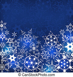 Winter background with snowflakes - Winter background with...