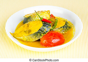 Assam fish - spicy and sour taste