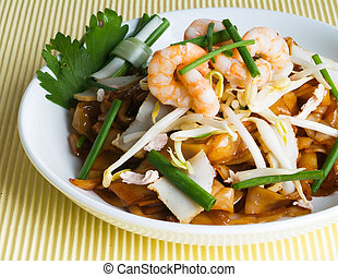 Stir fry noodles asia food