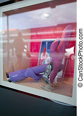Vibrators on display in sex shop window - AUCKLAND, NZ - OCT...