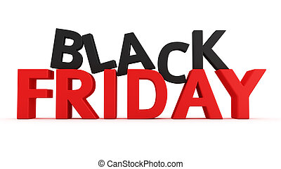 Black Friday - 3D label Black Friday on the white background