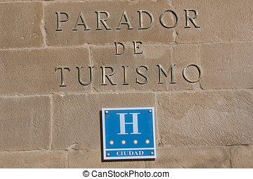 Golden letters, Ubeda, Spain - Golden letters on the stone...