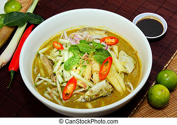 Laksa is traditional food in Malaysia