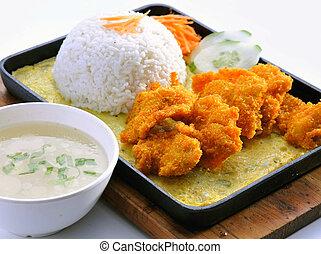 Fried fish in malaysia food