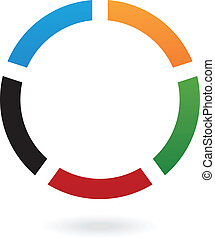 Colorful Round Abstract Icon - Illustration of Abstract Logo...