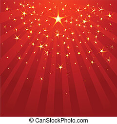 Christmas Shooting Star on starry background