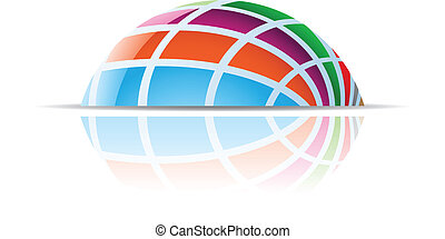 Colorful Dome Abstract Icon