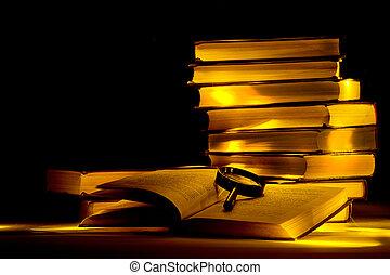 mystisk, bibliotek