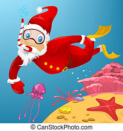 Santa Claus - Cartoon Character Santa Claus Vector EPS 10