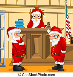 Santa Claus - Cartoon Character Santa Claus. Vector EPS 10.