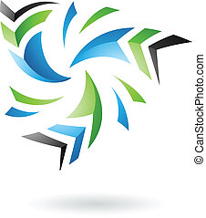 Flying Dynamic Abstract Arrows Icon