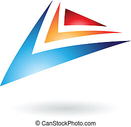 Colorful Arrows Abstract Icon