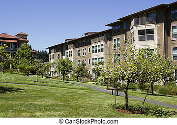 Rental Housing - The residential complex is designed for...