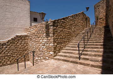 Stairs, Sabiote, Jaen, Spain - Stairs next to the Mudejar...