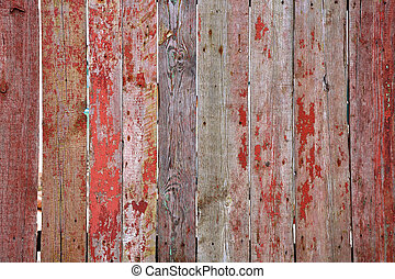 old wooden fence - Old wooden painted fence. The greate...