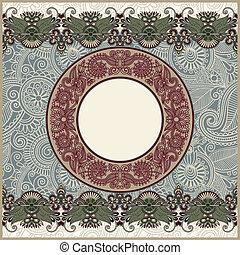 circle christmas vintage template