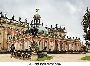 The New Palace in Sanssouci Park, potsdam, Germany - The New...