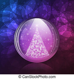 Luminescent snow globe - A vector illustration of a...