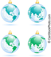 Christmas decorations - The collection of christmas...