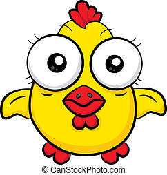 Cartoon chicken - An illustration of a funny cartoon...