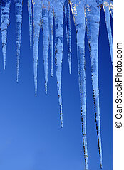 amazing icicles - beautiful icicles against a backdrop of...