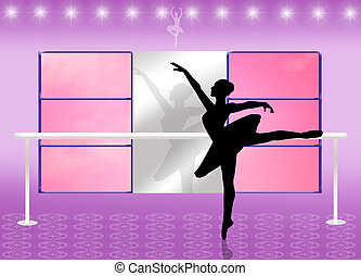 Ballet school - dancer in ballet school