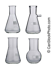 Lab Laboratory glassware set on a background - Lab...
