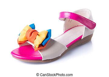 zapato, sandalias, Plano de fondo, Niño