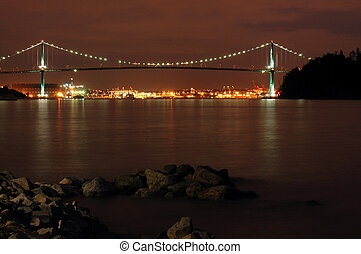 Lions Gate Bridge in Vancouver over Burard Inlet