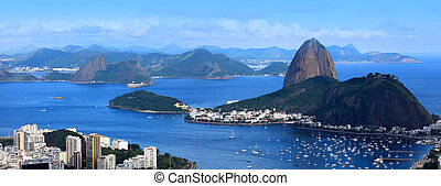 Rio panoramic view - Panoramic view of Sugar loaf in Rio