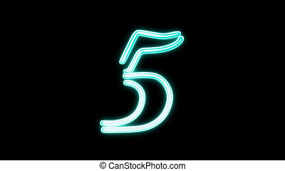 nero countdown number 5 - the countdown number graphic of...