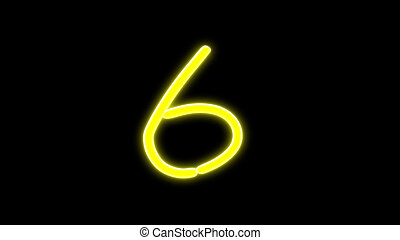 nero countdown number 6 - the countdown number graphic of...