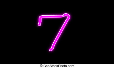 nero countdown number 7 - the countdown number graphic of...