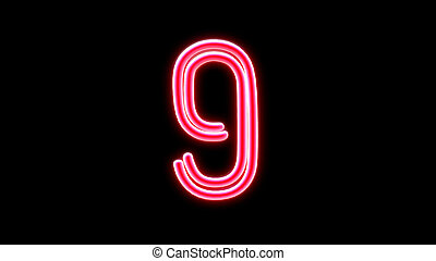 nero countdown number 9 - the countdown number graphic of...