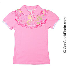 shirt Childrens wear quot;girlquot; on a background - shirt...