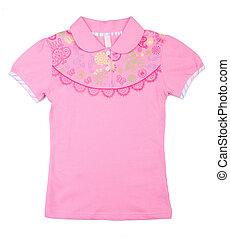"""shirt. Children's wear """"girl"""" on a background - shirt...."""