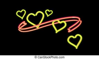 nero heart color orange - the heart graphic of nero light...