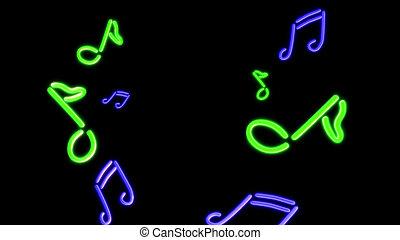 nero Music green blue - the music graphic of nero light glow