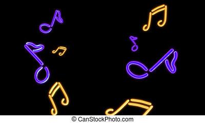 nero Music purple - the music graphic of nero light glow