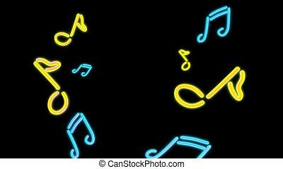 nero Music yellow - the music graphic of nero light glow