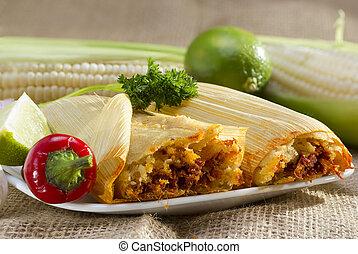 placa, mexicano,  Tamales