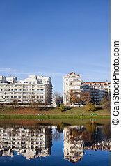 Lakeside Apartment Buildings in Warsaw