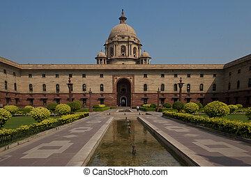 The Secretariat in New Delhi - The North Block of the...