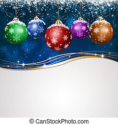 Blue Holiday Xmas Greeting Card