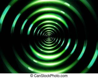 4K ring lens flare forward green