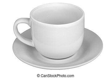 mug with saucer - Mug for tea or coffee with saucer isolated...