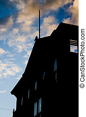 Old Building Silhouette