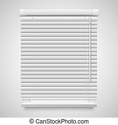closed shutter - Realistic closed shutters window, front...