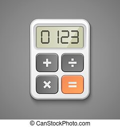 calculator icon - Calculator icon business concept vector...