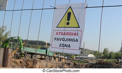 construction site warning